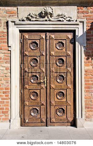 Old stylish door
