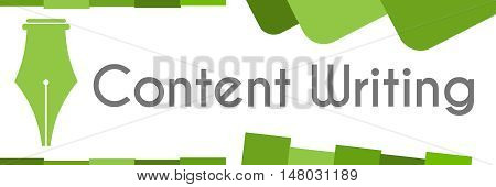 Content writing text written over abstract green background.