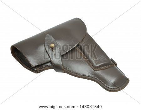 Brown holster isolated on a white background