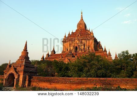 Htilominlo Temple in Bagan, Burma, one of thousands in the area.