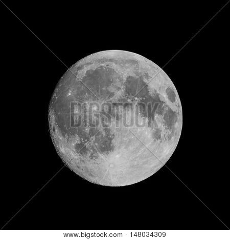 Photos of the full moon in the night sky.