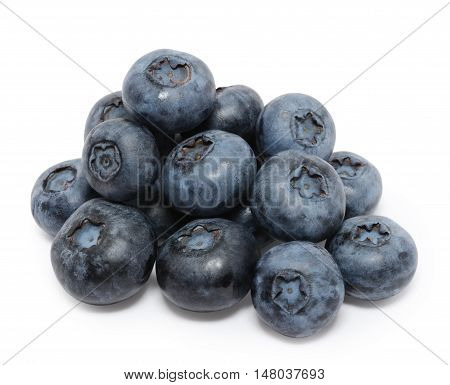 Heap of blueberry isolated on the white background