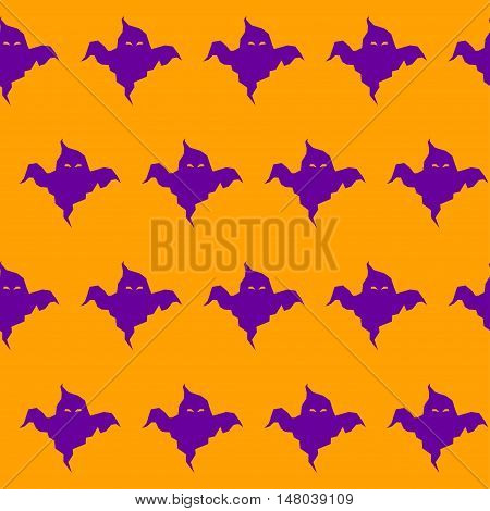 Halloween Ghost Seamless Pattern Background.