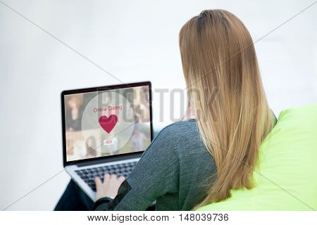 Young Woman On Dating Website