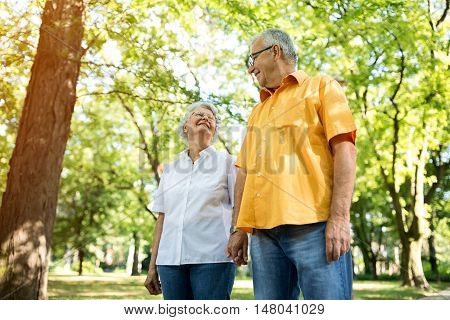 Love Glance Of Old Couple