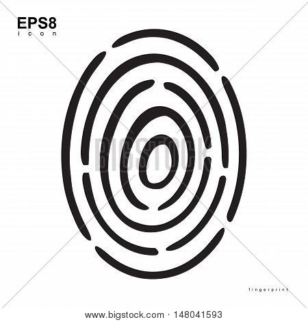 Creative Fingerprint Template Icon