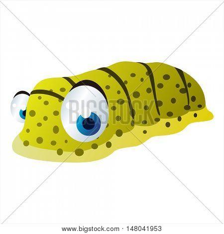 funny vector illustration of cute animal. Cartoon Sealife designs. Sea cucumber