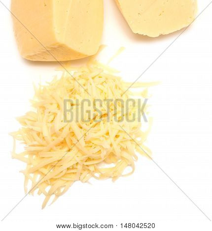 Grated Cheese On White