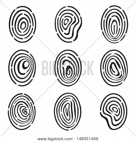 Fingerprint Icon Collection