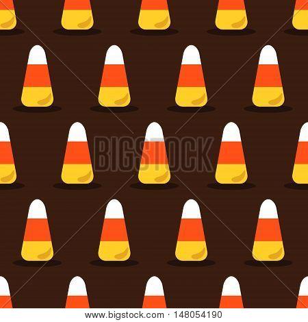Candy corn vector seamless Halloween pattern eps 10