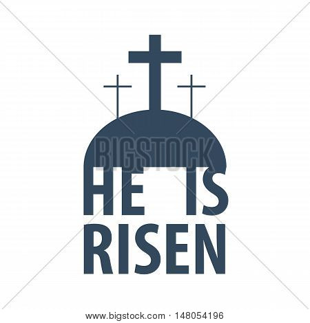 He Is risen. Easter. Vector flat illustration