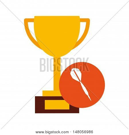 trophy cup winner sport vector illustration design