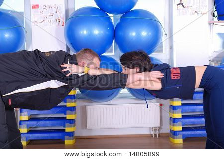 happy and healthy couple workingout