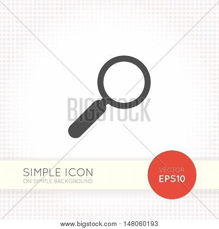 minimal flat search magnifier icon for user interfaces