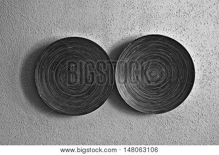 natural background texture line round circular wood