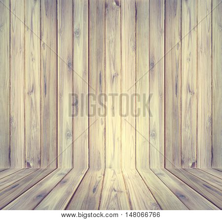 Teak wood plank texture perspective use for background .