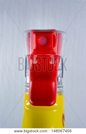 Spray Nozzle Bottle Mechanism Front Foam Cleaning Supply Detail Red