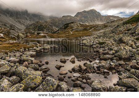 Great rocky peaks in High Tatra Mountains. Slovakia