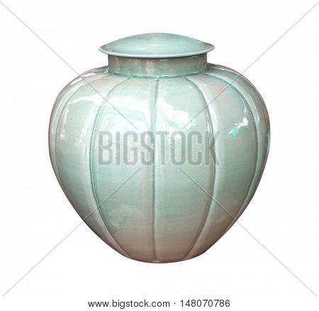 jar vase adorn decorative Isolated white background