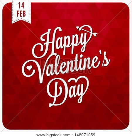 Vector happy valentine's day with geometric background