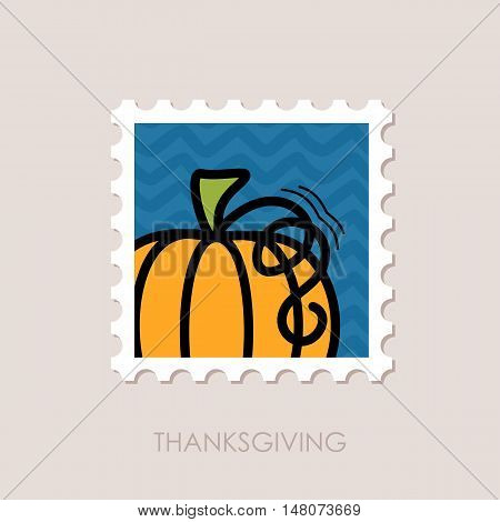 Pumpkin stamp. Harvest. Thanksgiving vector illustration eps 10