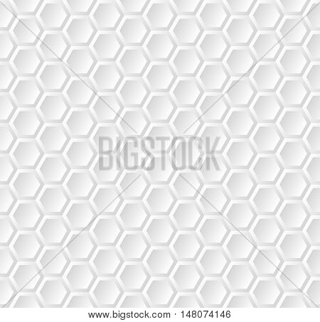 pattern seamless with shape of hexagon - vector illustration
