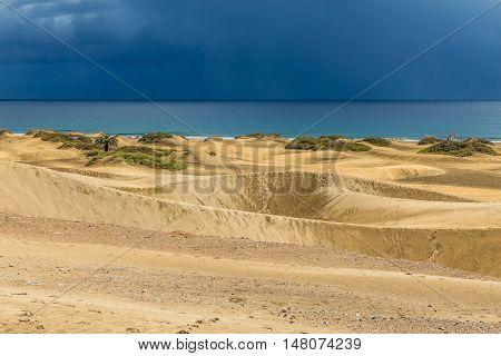 Maspalomas Sand Dunes Before Storm - Maspalomas Gran Canaria Canary Islands Spain