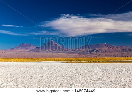 Salt Salar in Atacama Desert, Chile