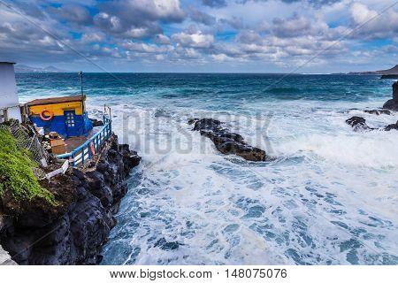 Rocky Seashore - Las Palmas Gran Canaria Canary Island Spain Europe
