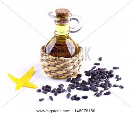 Decanter With Sunflower Oil Izoltrovanny