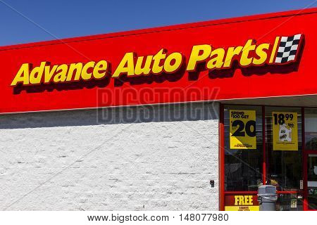 Ft. Wayne - Circa September 2016: Advance Auto Parts Retail Location. Advance Auto Parts is the largest retailer of automotive replacement parts and accessories in the US I