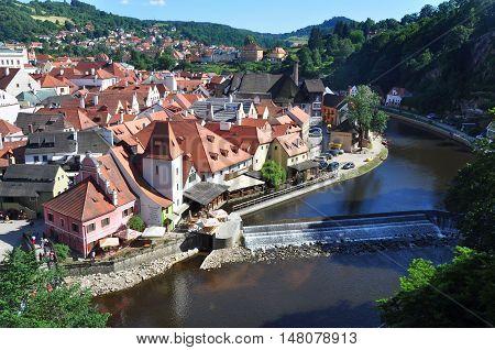 Old town Cesky Krumlov in Czech republic