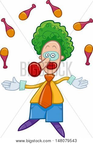 Clown Juggler Cartoon
