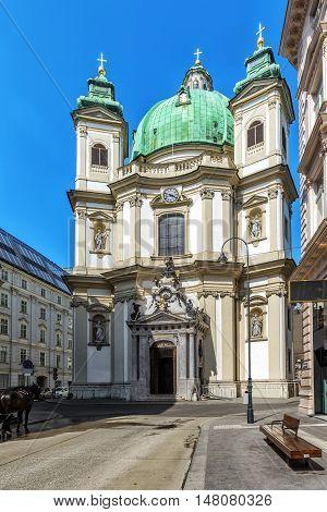 St. Peter's Church In Vienna, Austria.