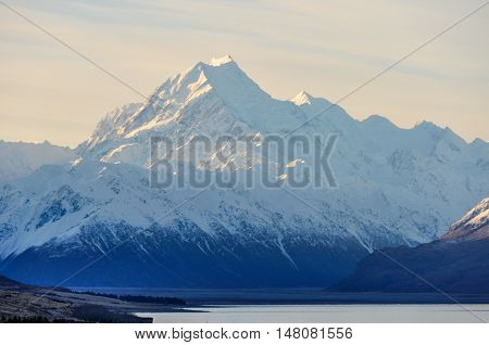 Sunset At Mount Cook In New Zealand