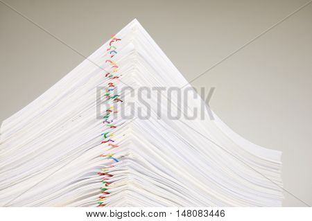 Close Up Pile Overload Paperwork