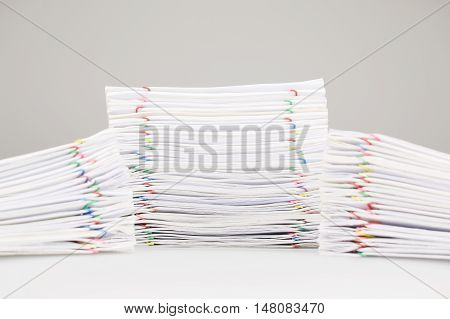 Pile Overload Paperwork Have Dual Blur Pile Document Foreground