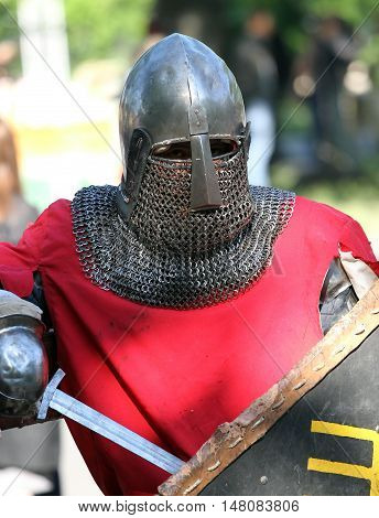 The Medieval Knight Having A Rest