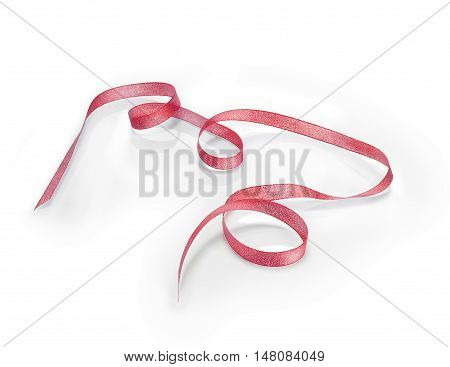 Golden Christmas tape with a soft reflection. Clipping path