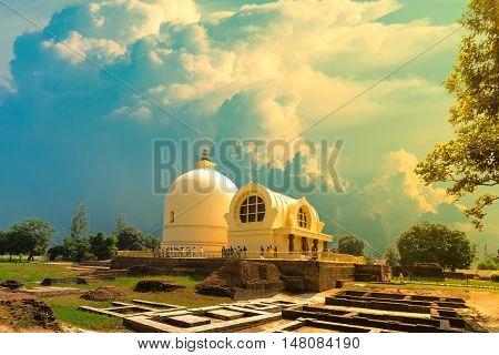Parinirvana Stupa is Public worship Buddhist landmark and the holy place for Buddhism in Kushinagar India
