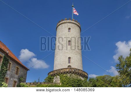 Tower Of The Sparrenburg Castle In Bielefeld