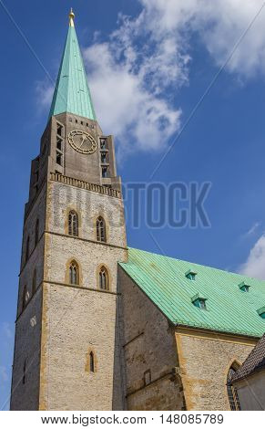 Tower Of The Nikolai Church In Bielefeld