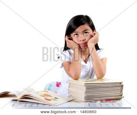 Asian Child Thinking