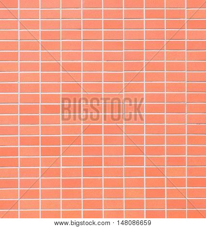 Red brick tile wall texture and background