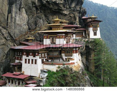 Taktsang lakhang or tigress nest monastery Bhutan