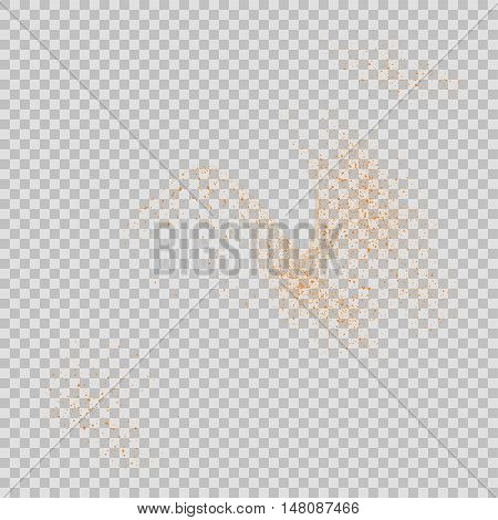 Abstract Movement Of Grain Or Dust Particles