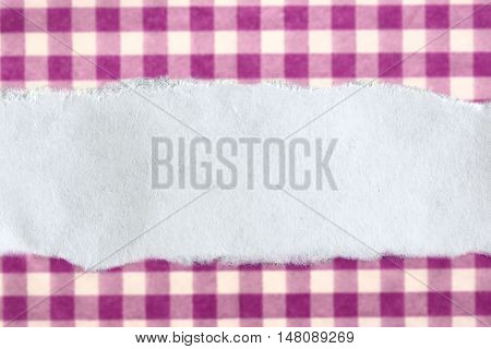 Ragged Piece Of Paper On Lilac