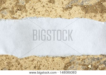 Ragged Piece Of Paper On Stone