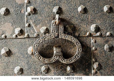 Ancient Metal Door With Knocker