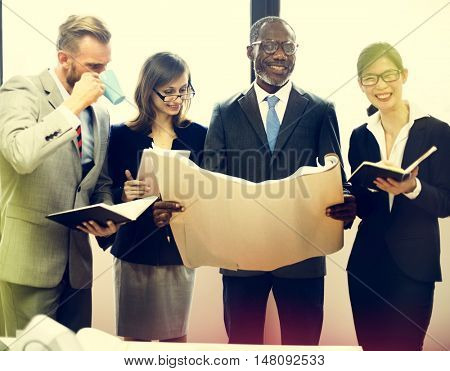 White Collar Worker Organization Meeting Office Concept